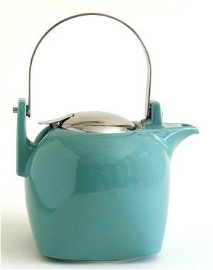 bee house kyoto teapot in turquoise