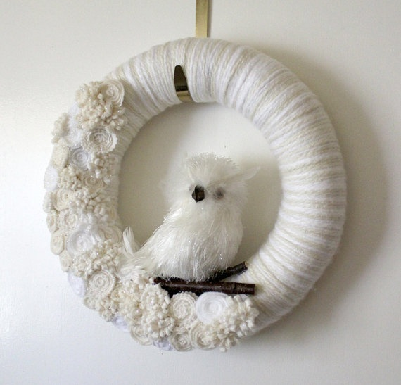 White Owl Wreath Icy Owl Wreath Winter Wreath by TheBakersDaughterChristmas Wreaths, White Wreaths, Owl Wreaths, Diy Wreaths, Wreaths Ideas, Wonder Wreaths, Owls Wreaths, Winter Wreaths, Wreaths Icy