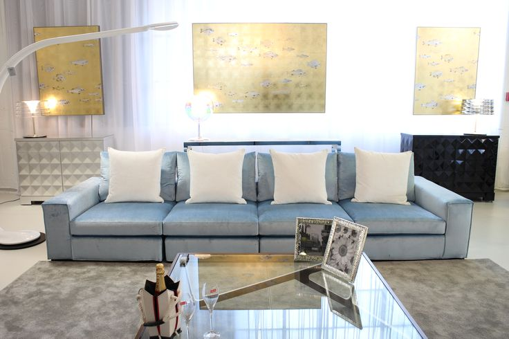 Gordon Sofa made in Italy by Marac, Boviso Coffee Table made in Ecuador by La Galeria, Quadrille Chests made in Ecuador by La Galeria, Taaac Chi and Glo lamps made in Italy by Penta. Available exclusively at Sarsfield Brooke Ltd