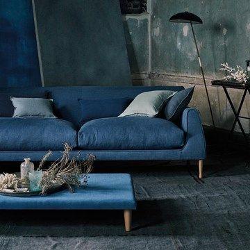 Engelska Tapetmagasinet - möbeltyg - Romo - gardintyg - tyg - blå - Linara Bilberry
