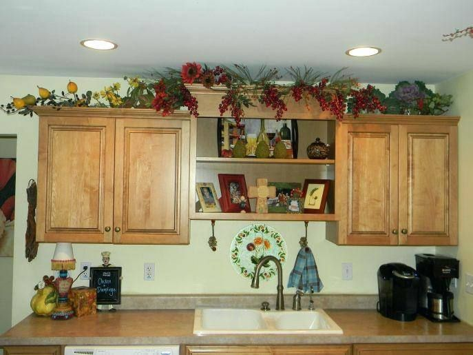 Decorating Ideas For Soffit Above Kitchen Cabinets With Images Decorating Above Kitchen Cabinets Kitchen Redesign