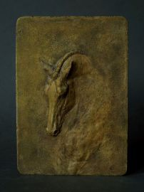 reliefy - ceramiczne konie