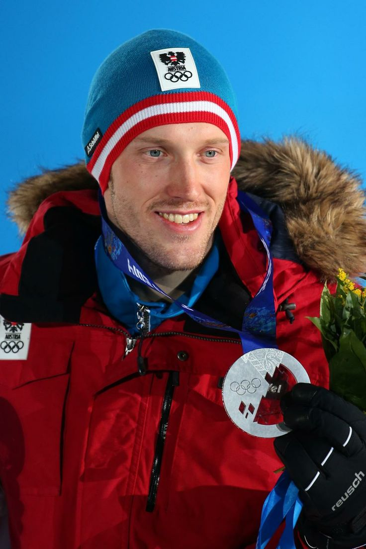 BIATHLON MEN'S SPRINT 10km:  Silver medalist Dominik Landertinger of Austria
