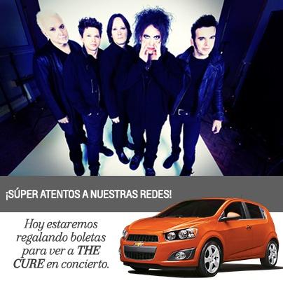 Envíanos tu afiche invitando a la comunidad Chevrolet al concierto. Debe ser creativo, incluir a nuestro Chevrolet Sonic y a la banda. ¡Los dos mejores ganan boleta doble VIP para ver a The Cure en concierto! El plazo es hasta mañana a las 12 am.