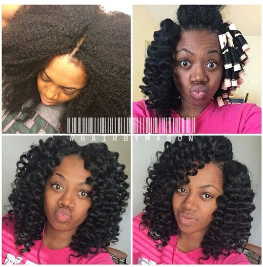 #hairbyMason knotless crochet Looks so natural. braids by Mason pic from instagram. #blackwomen #hairstyle