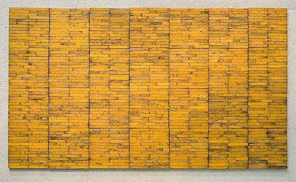 Rosalie GASCOIGNE, Plenty  weathered painted wood 246.0 h x 430.5 w cm