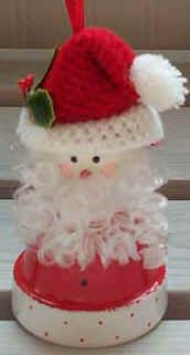 Flower Pot Santa (Patricia's Pots - Flower Pot Craft Ideas)