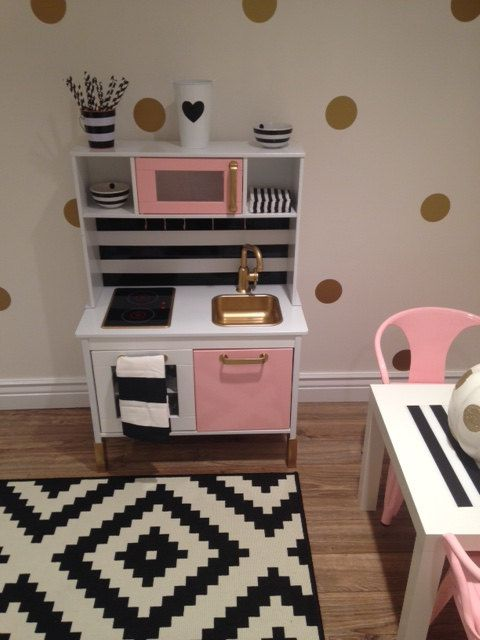 Custom Painted Ikea Childrens Kitchen  Made To Order! Your Lil One Will  Feel Right