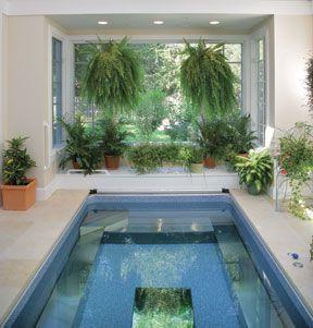 "indoor, endless, salt water pool is my idea of ""making it"""