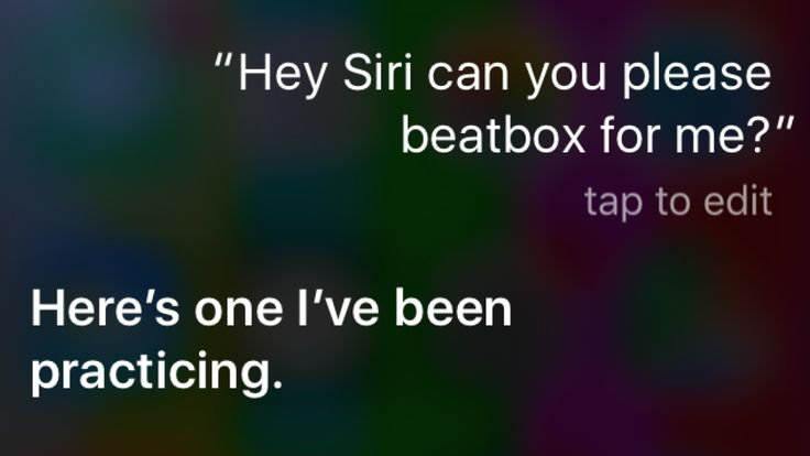 Apple's virtual assistant Siri is delighting people around the world today with her hilariously bad beatboxing and rap skills.