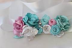 Opasky - Opasok mintovo ružové vzplanutie - 5226213_