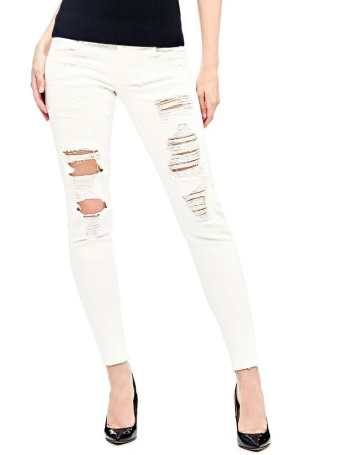 EUR139.90$  Buy here - http://viulz.justgood.pw/vig/item.php?t=la96og23501 - SKINNY JEANS WITH TEARS ALL OVER