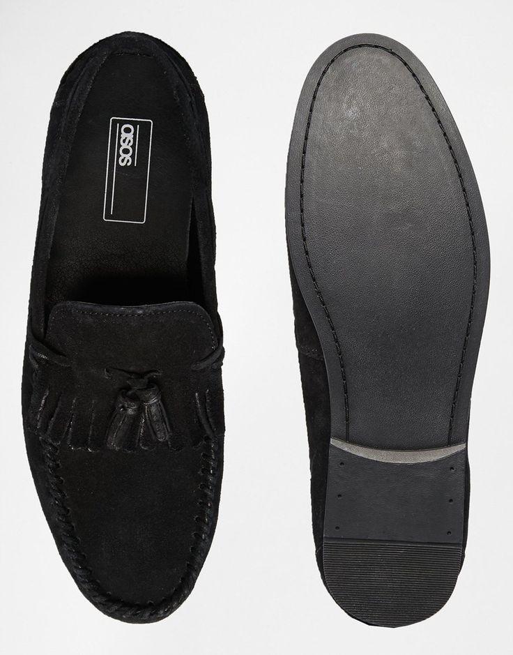 Image 3 ofASOS Tassel Loafers in Suede