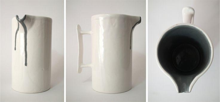 Spilled milk jug (large 80mm diameter x 140mm high)