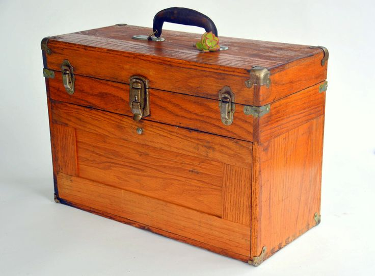 Antique Wooden Machinist Tool Box Chest: Rustic Industrial 7 Drawer Dovetail Craftsman Hardware Storage Trunk & key...I need this to put all my small jewelry tool in.*
