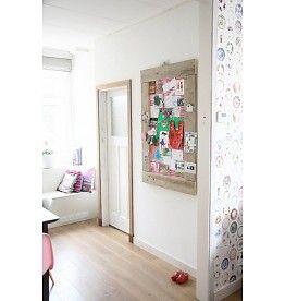 Label123 Prikbord steigerhout groot (L) roze