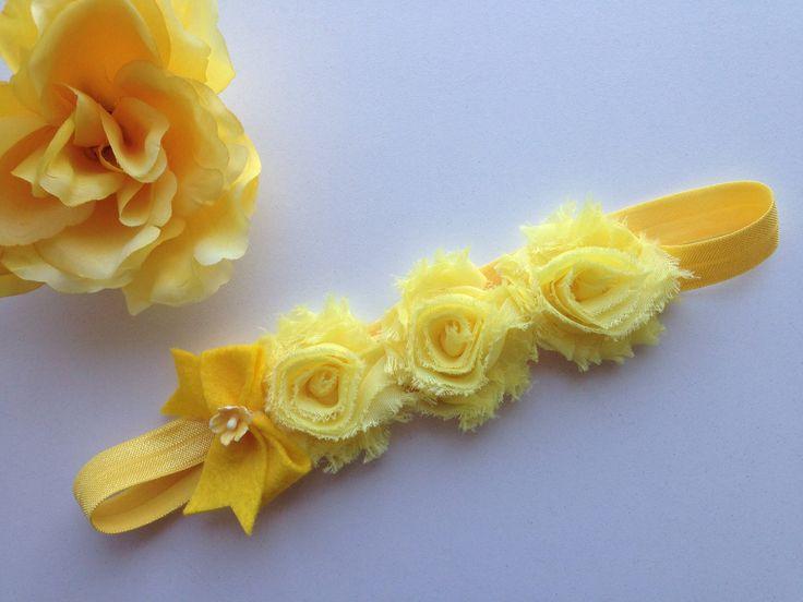 Shabby flower crown headband