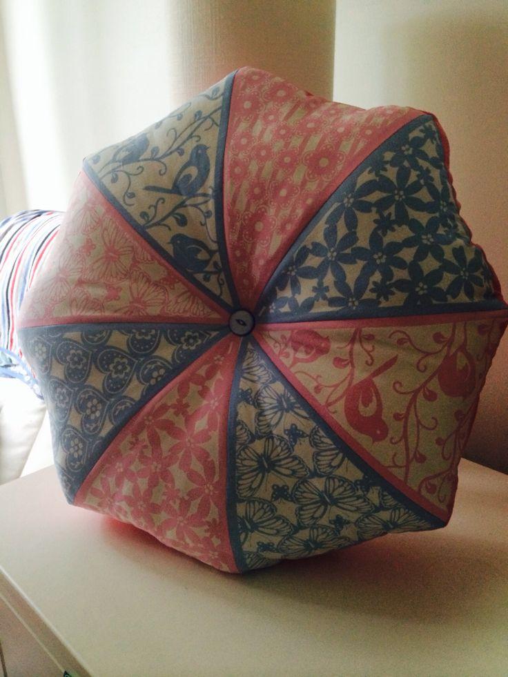 Octagonal 'bunting cushion'