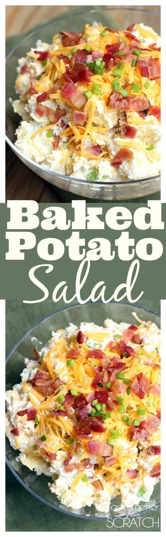 Baked Potato Salad from TastesBetterFromScratch.com