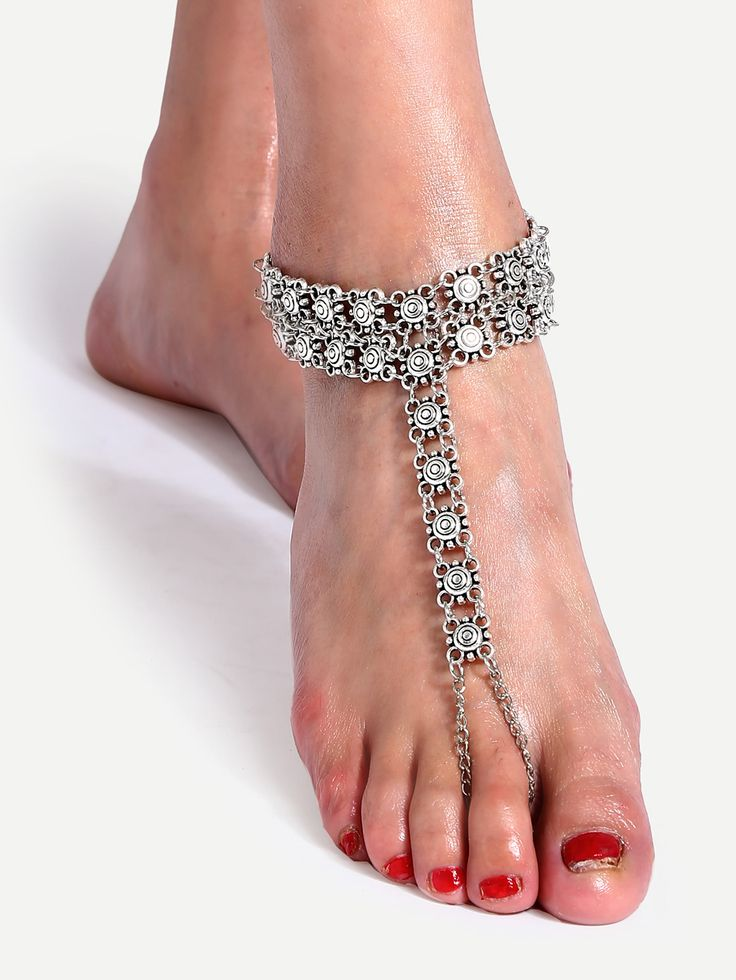 Shop Silver Parquet Even A Toe Anklet online. SheIn offers Silver Parquet Even A Toe Anklet & more to fit your fashionable needs.