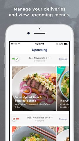 The country's #1 fresh ingredient and recipe delivery service, Blue Apron makes it simple (and fun!) to cook incredible meals at home. With this app, voted one of Apple's Top 25, you'll discover seasonal recipes, cooking techniques and how-to videos, as well as easily manage your account on-the-go.  #Recipes #Cooking #Food #Drinks #ios #iosapps #Appstore