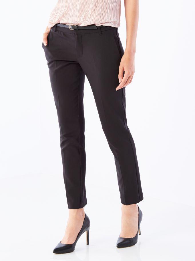 Элегантные брюки-сигареты с заутюженными стрелками, MOHITO