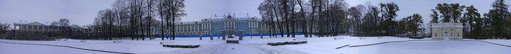 Le palais de Catherine à Tsarskoïe Selo.