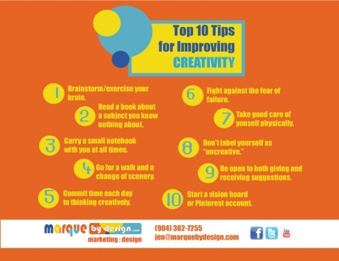 Top  Tips For Improving Creativity