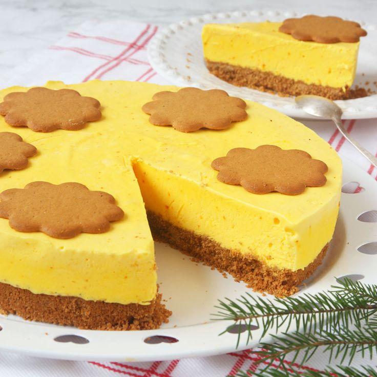 Fryst saffranscheesecake med pepparkaksbotten – Lindas Bakskola