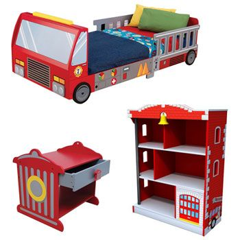 The Kidkraft Fire Truck Room Set Is Perfect For Your Fireman Or Firewoman In Training