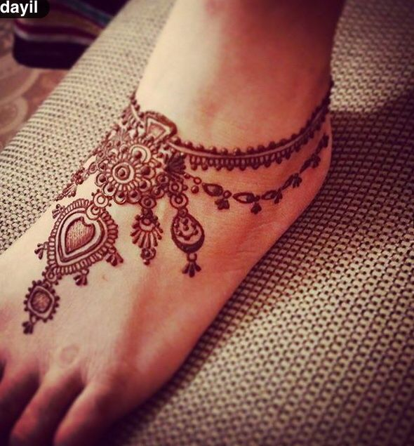 #mehendi #henna #feet #design #pretty