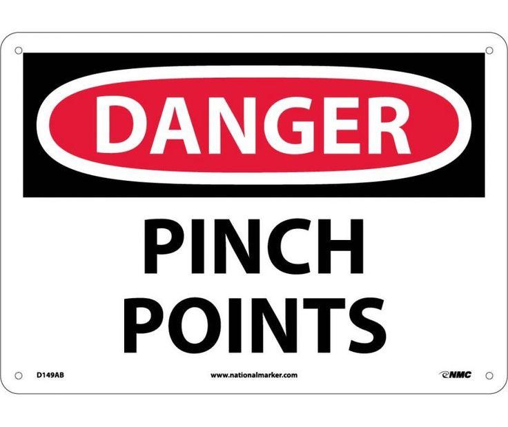 Danger, PINCH POINTS, 10X14, .040 Aluminum