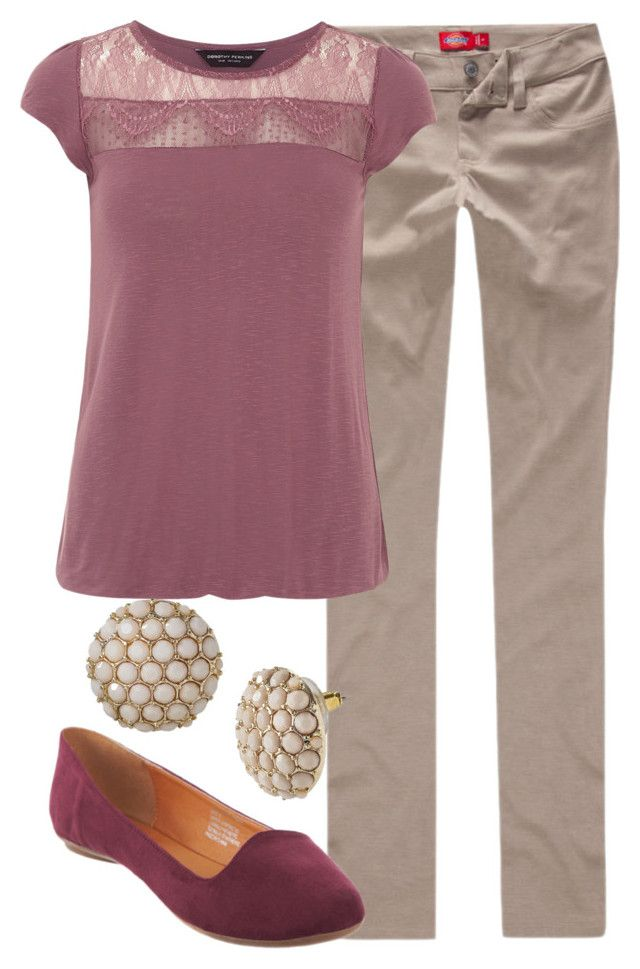 """""""Teacher Outfits on a Teacher's Budget 129"""" by allij28 ❤ liked on Polyvore featuring Dickies, Dorothy Perkins and SPURR"""