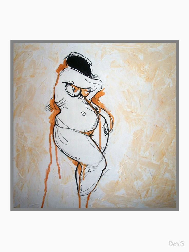 Fine Art Female Nude Painting by Menna Sabry Brown