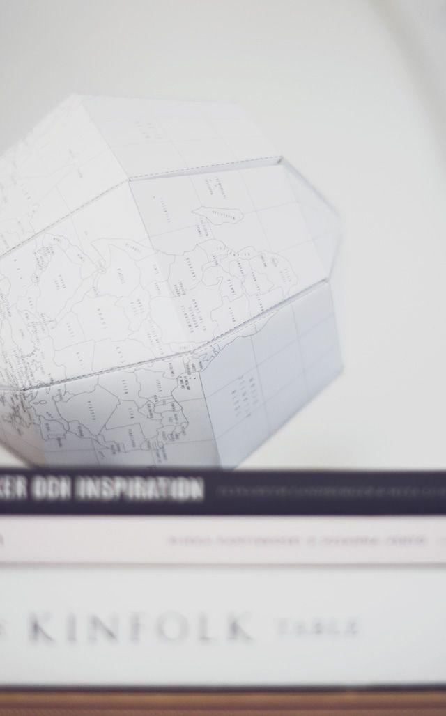 DIY Mormorsglamour | DIY – pyssel – inredninghttp://joachimesque.com/globe/le-paper-globe-A4-en.pdf