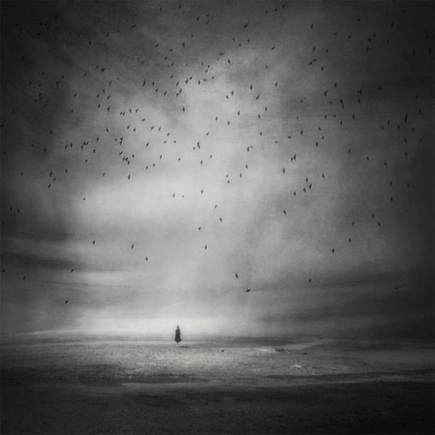 POETIC PHOTOGRAPHY - The surreal and poetic photographs of Kasia Derwinska, mixing photography and digital retouching to lead us into a dark, dreamy and ethereal universe, trying to connect the visible and the invisible, the real and the feelings