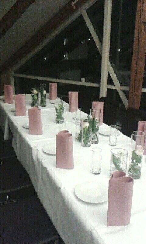 Borddekorasjon - Bryllup