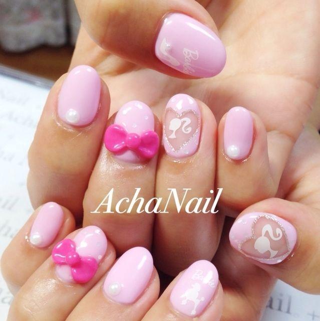 春の定番♡かわいいピンクネイルを集めちゃいましたっ♩ - let-me 「春の女の子の指先に。」ふわっと春めく。パステルピンクネイル。 -