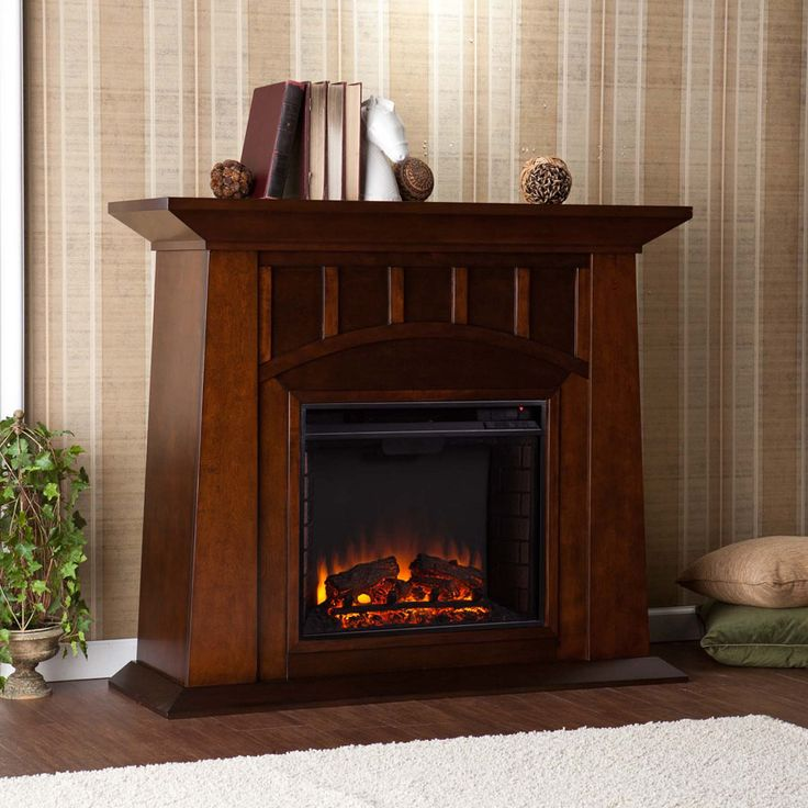 48″ Lowery Electric Fireplace – Espresso – remote control operated (1  CR2025 battery included - 218 Best Electric Fireplaces Images On Pinterest