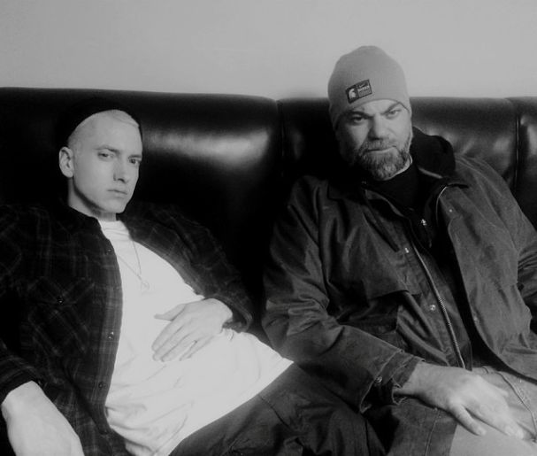New Pic. so cute!! Eminem and his manager, Paul Rosenberg.