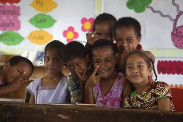 children in tonga | Picture of Tongan people (Tonga): Kids at school in Ofu island