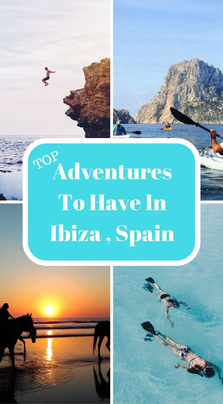 Top adventure to have in Ibiza, Spain. Ibiza is way more than this and we've put together a list of things to do in Ibiza to prove it. This list is jam-packed with epic adventures, experiences and things to do in Ibiza that will make your family members and friend's jealous that they miss out on these experiences. Click to read more at http://www.divergenttravelers.com/things-to-do-in-ibiza/