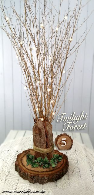 Add some enchantment to your rustic table with our stunning Twilight Forest Setting. www.marrighi.com.au
