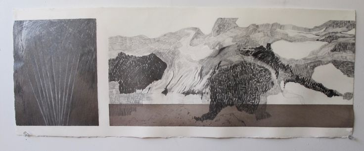 Land-shapes Graphite and ink