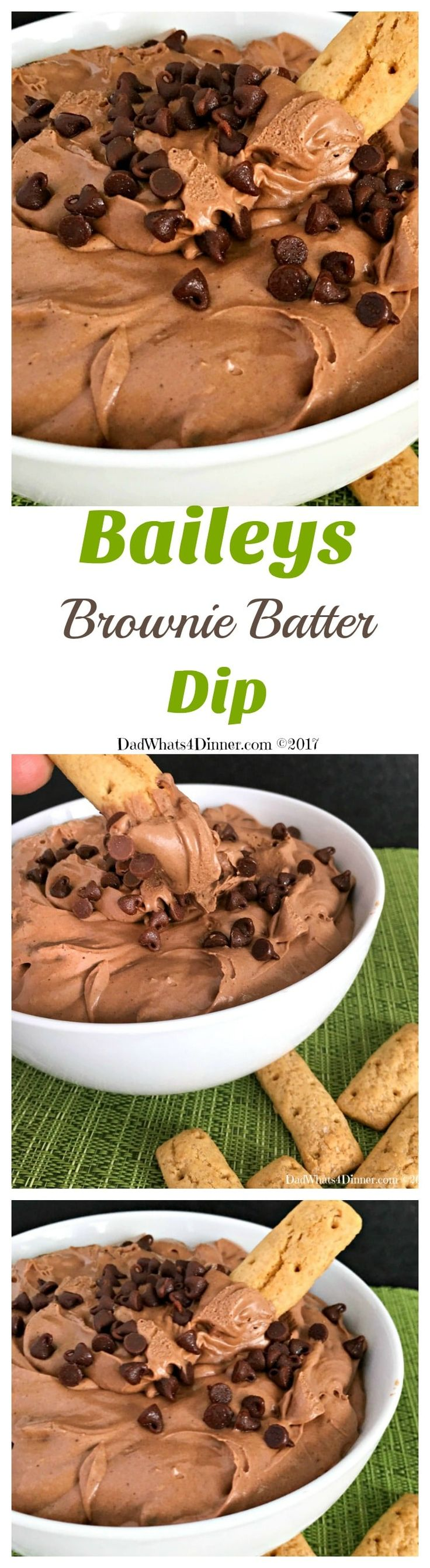 No need to lick the bowl and spatula the next time you make brownies instead skip the baking and try my Baileys Brownie Batter Dip instead.  via @dadwhats4dinner