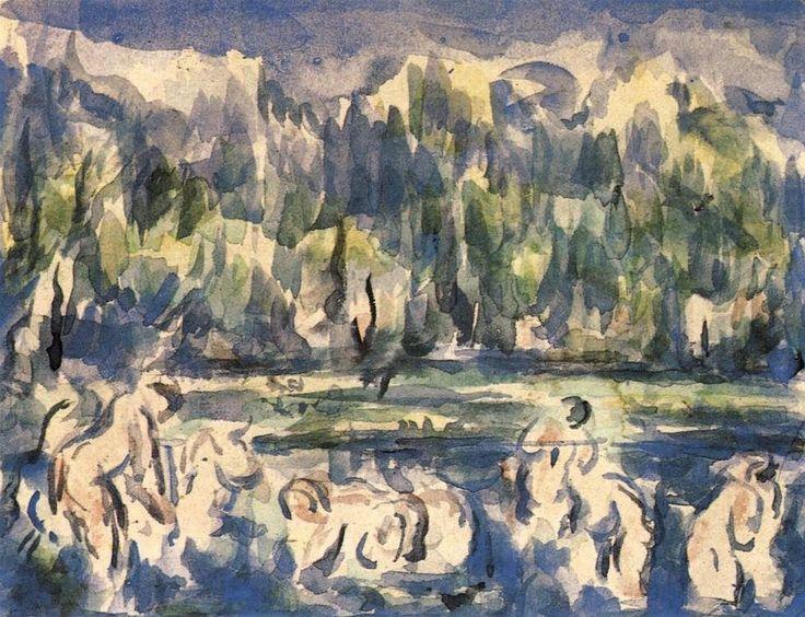 Paul+Cézanne+1900+Bathers+watercolour+21+x+27+cm.jpg (978×750)