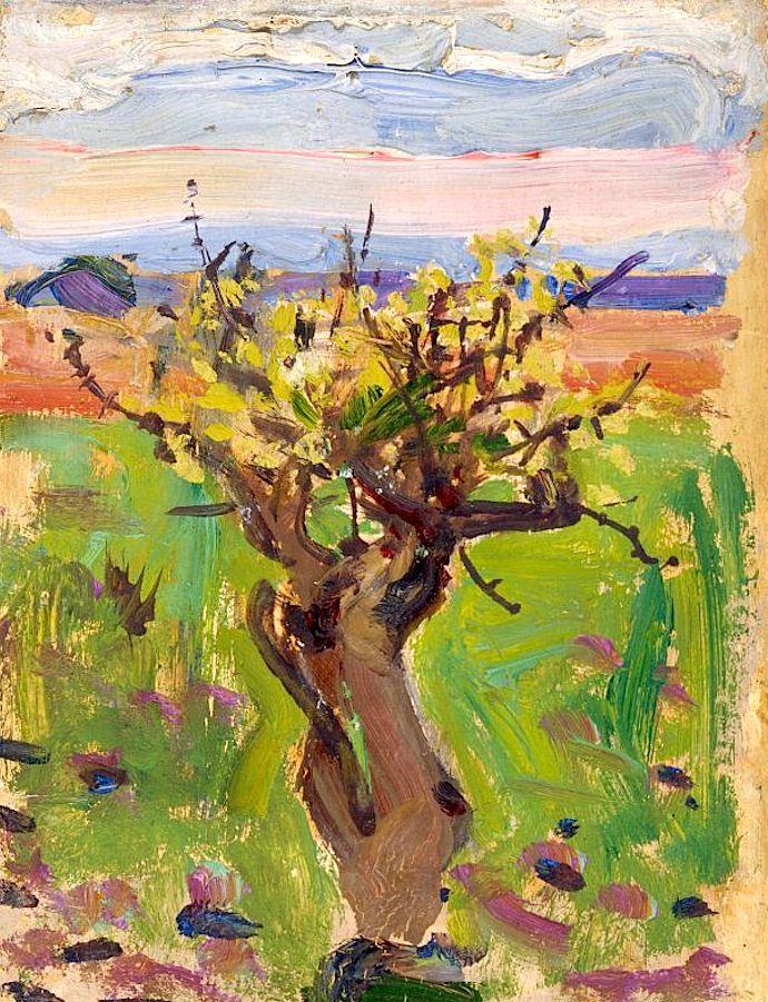 """""""Dwarf Tree in the Desert"""", Akseli Gallen-Kallela, 1909-1910"""
