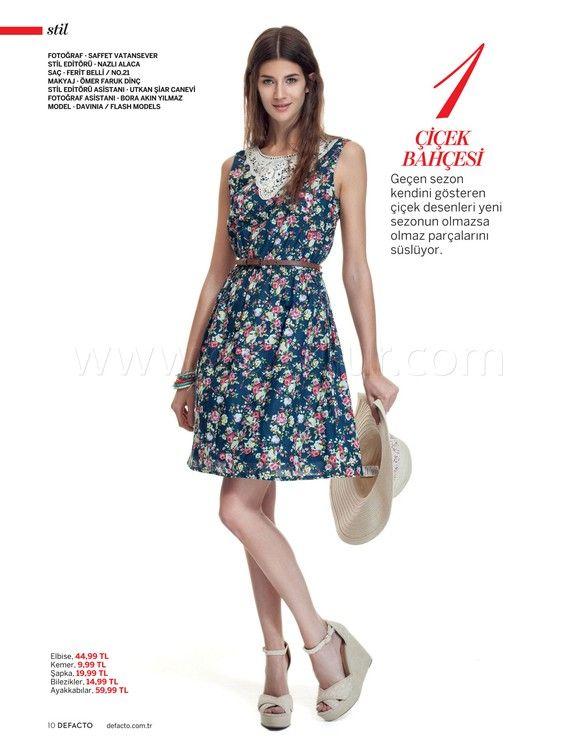 Defacto Çiçekli Elbise - Defacto İlkbahar-Yaz Bayan Kataloğu: Festival Havası