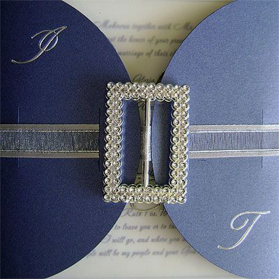 Ref Kgaogelo Blue Buckle ( we can do any colour) www.weddingcards.co.za