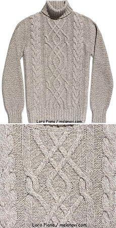 Hombre suéter Aran por Loro Piana | Tejer con Lana Wee